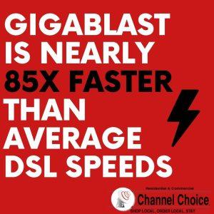 gigablast faster than mbps